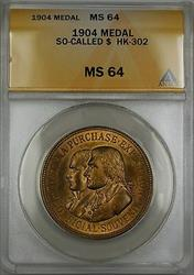 1904 So Called Dollar $ Medal HK-302 ANACS