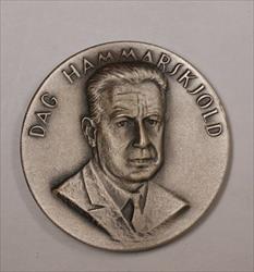1905-1961 Heroes of Peace Fine Silver Medal Dag Hammarskjold Heroes of Peace 1oz