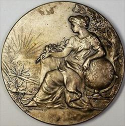 1910 Escuela Normal Rual Mixta Chaco Jose Figueroa Commemorative Silver Medal