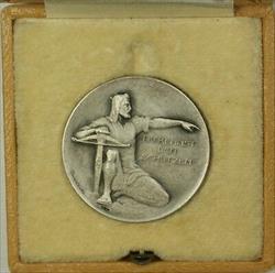 1924 Aarau Switzerland Silver Swiss Shooting Medal R44a in Original Case