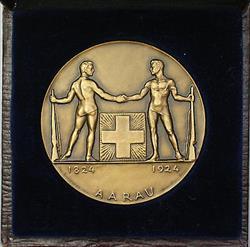 1924 Aarau Switzerland Swiss Shooting Medal R45 in Original Case