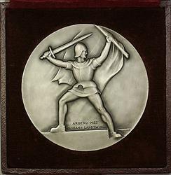 1937 Zug Switzerland Silver Swiss Shooting Medal R45 in Original Case