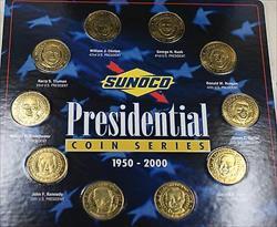 1950-2000 Presidential Sunco Series 10 Brass UNC Medals Truman through Bush