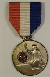 1963 Essex County Oratory Finals Silver Medal W/ Ribbon American Legion