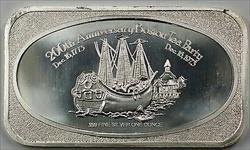 200th Anniversary Boston Tea Party .999 Fine Silver 1oz Ingot U.S. Silver Corp.