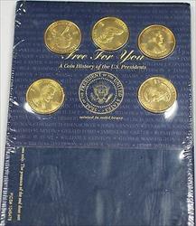 5 Piece President Medal Set Lincoln Madison Tyler Johnson Harrison with Folder