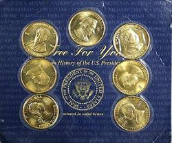 7 Piece President Medal Set Washington Adams Harrison Johnson Harding Buchanan