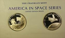 America in Space Series: Apollo XI (12) & ITOS 1 Sterling Silver Proof Medals