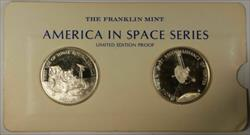 America in Space Series: Apollo XV (15) & Pioneer X Sterling Silver Proof Medals