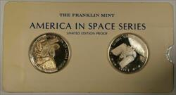 America in Space Series: Apollo XVI (16) & ERTS I Sterling Silver Proof Medals