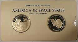 America in Space Series: Apollo XVII & NIMBUS V Sterling Silver Proof Medals