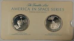 America in Space Series: Pioneer V  & Faith 7 Sterling Silver Proof Medals