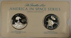 America in Space Series: Surveyor I  & Apollo X Sterling Silver Proof Medals