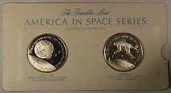 America in Space Series: TELSTAR & GEMINI 4 Sterling Silver Proof Medals