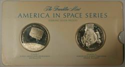 America in Space Series: TIROS I & GEMINI III Sterling Silver Proof Medals