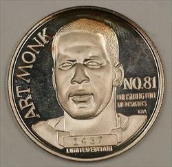 Art Monk NFL Football All Time Receptions Leader .999 Silver Proof Medal