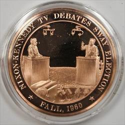Bronze Proof Medal 1960 Nixon-Kennedy Debate