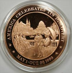 Bronze Proof Medal America Celebrates its Discovery May 1-October 30 1893