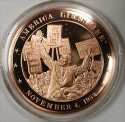 Bronze Proof Medal America Likes Ike November 4 1952