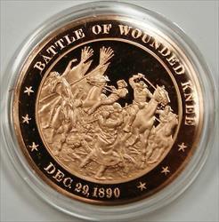 Bronze Proof Medal Battle of Wounded Knee December 29 1890