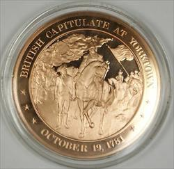 Bronze Proof Medal British Capitulate at Yorktown October 19 1781