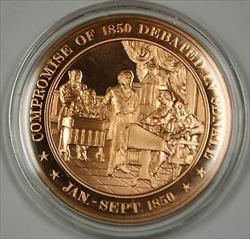 Bronze Proof Medal Compromise of 1850 Debated in Senate Jan Sept 1850