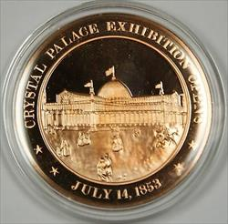 Bronze Proof Medal Crystal Palace Exhibition Opens July 14 1853