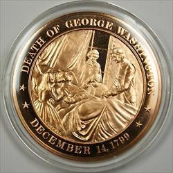 Bronze Proof Medal Death of George Washington December 14 1799