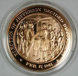 Bronze Proof Medal Election of Jefferson Decided By Congress  Feb 17, 1801