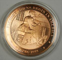Bronze Proof Medal Factory Towns Begin in America Spring 1822