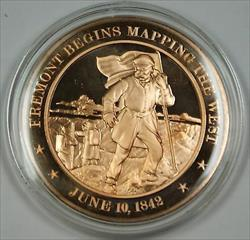 Bronze Proof Medal Fremont Begins Mapping the West  June 10 1842