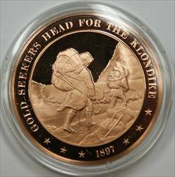 Bronze Proof Medal Gold-Seekers Head for the Klondike 1897