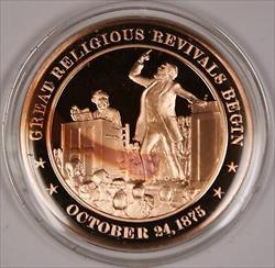Bronze Proof Medal Great Religious Revivals Begin October 24 1875
