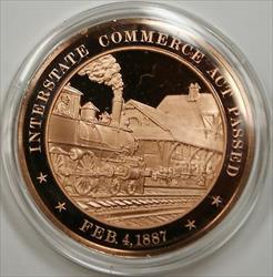 Bronze Proof Medal Interstate Commerce Act Passed Febuary 4 1887