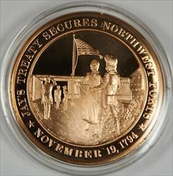 Bronze Proof Medal Jay Treaty Secures Northwest Forts November 19 1794