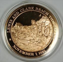 Bronze Proof Medal Lewis and Clark Reach the Pacific November 7 1805