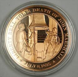 Bronze Proof Medal Liberty Bell Tolls Death of John Marshall July 8 1835