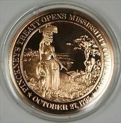 Bronze Proof Medal Pinckney Treaty opens Mississippi Commerce October 27 1795