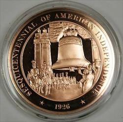 Bronze Proof Medal Sesquicentennial of American Independence 1926