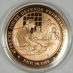 Bronze Proof Medal Supreme Court Defends Federal Authority Febuary 20 1809