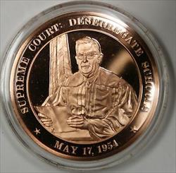 Bronze Proof Medal Supreme Court Desegregate Schools May 17 1954