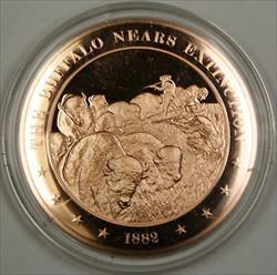 Bronze Proof Medal The Buffalo Nears Extinction 1882