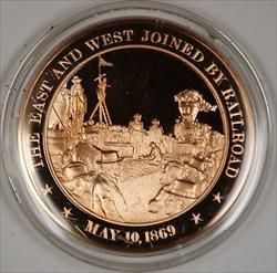 Bronze Proof Medal The East and West Joined by Railroad May 10, 1869