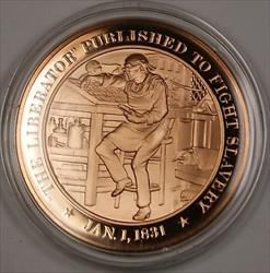 Bronze Proof Medal The Liberator Published to Fight Slavery Jan 1 1831
