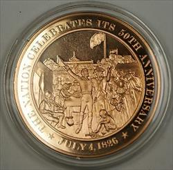Bronze Proof Medal The Nation Celebrates Its 50th Anniversary July 4 1826