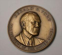 US Mint Herbert Hoover Presidential High Relief Bronze Inaugural Medal Open