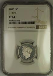 1883 Liberty V Nickel Pattern Proof 5c Coin NGC  J-1719 Judd WW