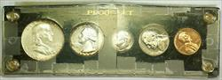 1954 Silver Proof Set with Light Rim Toning in Clear Black Plastic Case