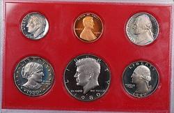 1980 US Mint Gem Proof Set 6 Coins *No Flap or Box*