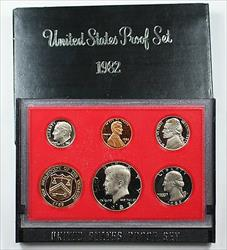 1982 US Mint Proof Set 5 Gem Coins as Issued
